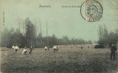 "/ CPA FRANCE 59 ""Roubaix, partie de Foot Ball"""