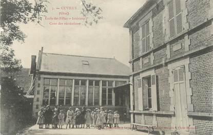 "/ CPA FRANCE 60 ""Cuvilly, école des filles"""