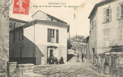 """CPA FRANCE 83 """"Fayence, siège de la société Musicale La Renaissance"""""""