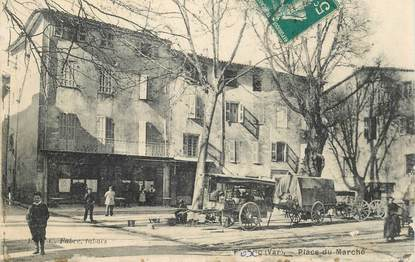 "CPA FRANCE 83 ""Flayosc, place du marché"""