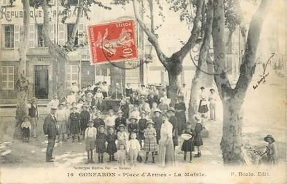 """CPA FRANCE 83 """"Gonfaron, place d'Armes, la mairie"""""""