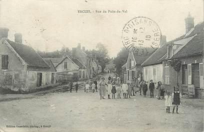 """/ CPA FRANCE 60 """"Ercuis, rue du Puits du Val"""""""