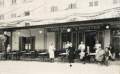"CARTE PHOTO FRANCE 83 ""La Garde Freinet, Café bar de l'Industrie"""