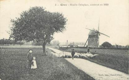 "/ CPA FRANCE 60 ""Grez, moulin Delaplace"""