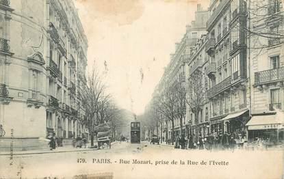 """CPA FRANCE 75016 """"Paris, Rue Mozart"""""""