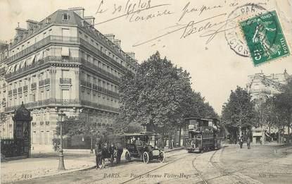 "CPA FRANCE 75016 ""Paris, avenue Victor Hugo"" / TRAMWAY"