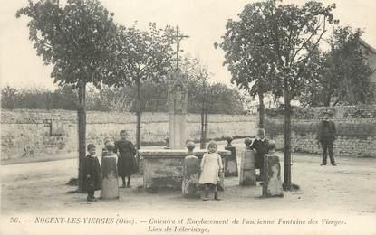 """/ CPA FRANCE 60 """"Nogent les Vierges, calvaire et emplacement de l'ancienne fontaine' / ENFANTS"""