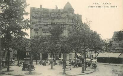 """CPA FRANCE 75017 """"Paris, place Saint Ferdinand"""""""