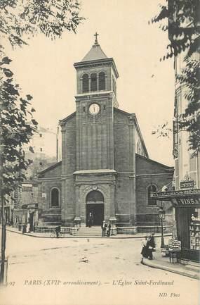 "CPA FRANCE 75017 ""Paris, Eglise Saint Ferdinand"""