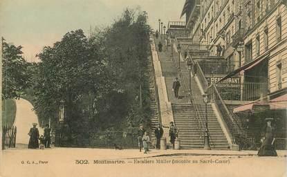 """CPA FRANCE 75018 """"Paris, Montmartre,  Escaliers Müller"""""""