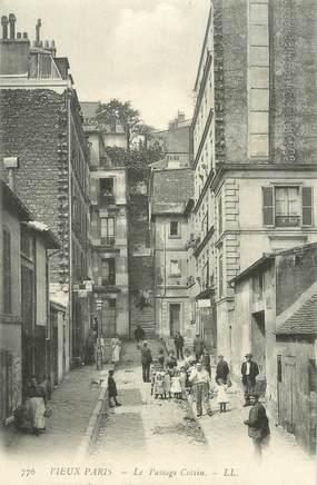 """CPA FRANCE 75018 """"Paris, le Passage Cottin"""""""