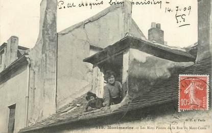 """CPA FRANCE 75018 """"Paris, Montmartre, les Mimi Pinson de la rue du Mont Cenis"""""""