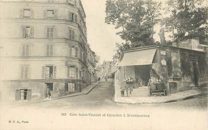"CPA FRANCE 75018 ""Paris, coin Saint Vincent et Girardon à Montmartre"""