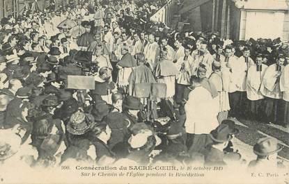 """CPA FRANCE 75018 """"Paris, consécration du Sacré Coeur, 1919"""""""