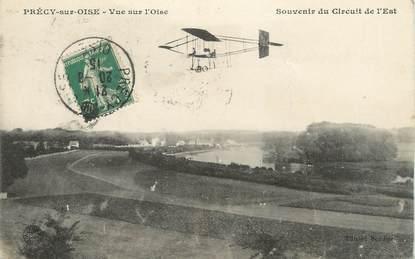 """/ CPA FRANCE 60 """"Précy sur Oise, souvenir du circuit de l'Est"""" / AVIATION"""