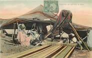 Afrique CPA TUNISIE / Fabrication des tapis dans un Douar