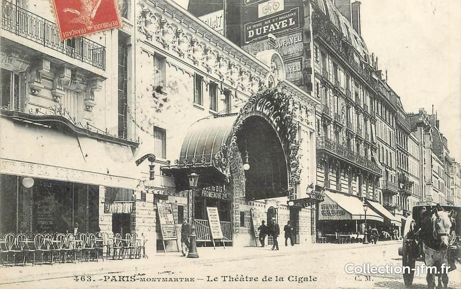 cpa france 75018 paris montmartre le th tre de la cigale 75 paris 18 eme arrondissement. Black Bedroom Furniture Sets. Home Design Ideas