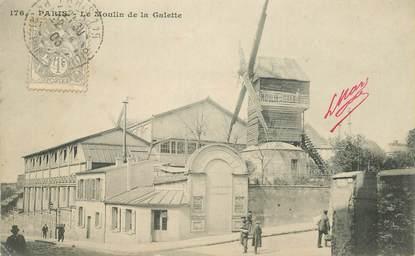 """CPA FRANCE 75018 """"Paris, le Moulin de la Galette"""""""