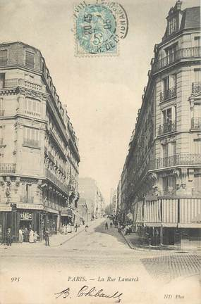 "CPA FRANCE 75018 ""Paris, la rue Lamarck"""