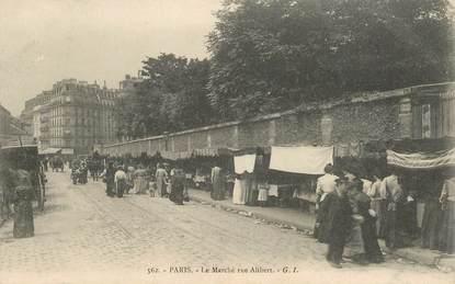 """CPA FRANCE 75018 """"Paris, le marché rue Alibert"""""""