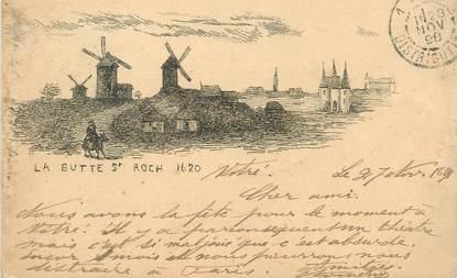 """CPA FRANCE 75018 """"Paris, la Butte Saint Roch"""" / 1898"""