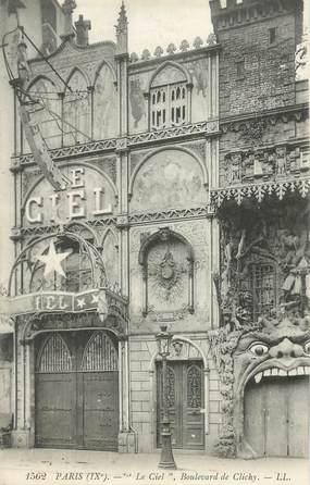 """CPA FRANCE 75018 """"Paris, Boulevard de Clichy, le Ciel"""" / SURREALISME"""