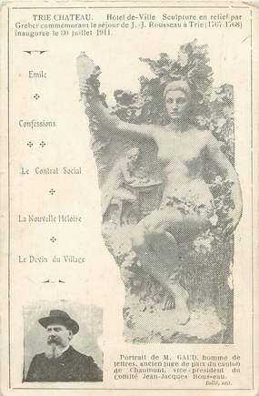 "/ CPA FRANCE 60 ""Trie Château"" / SCULPTURE"