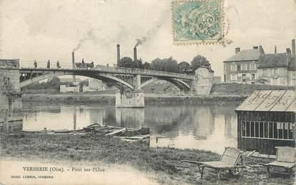 """/ CPA FRANCE 60 """"Verberie, pont sur l""""Oise"""""""