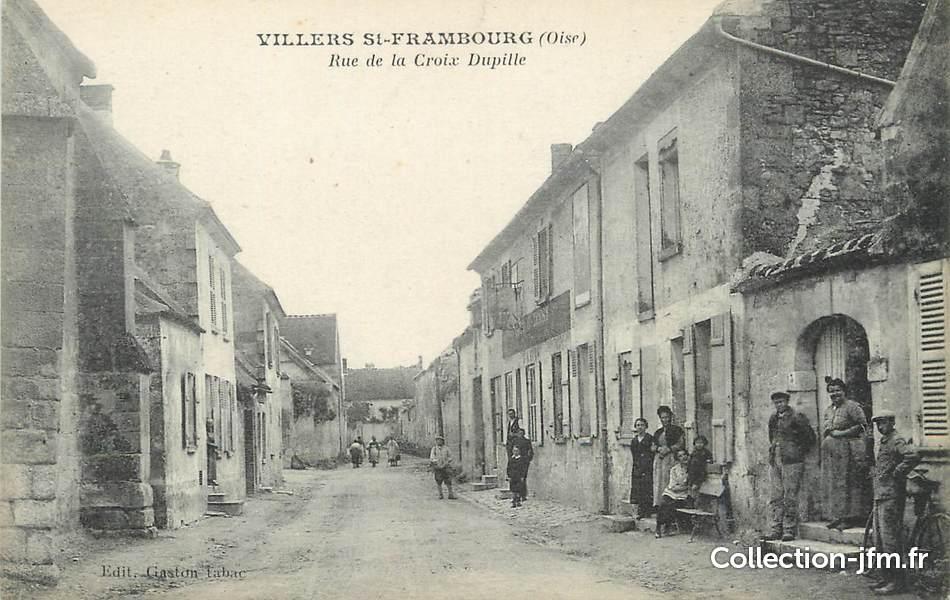 Cpa france 60 villers saint frambourg rue de la croix for Liste communes oise