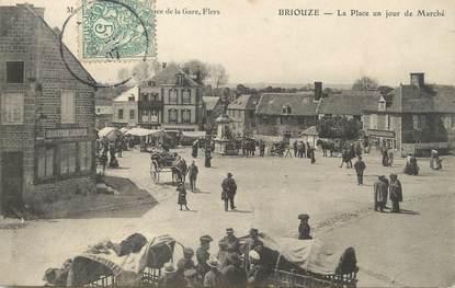"""/ CPA FRANCE 61 """"Briouze, la place un jour de marché"""""""