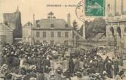 """61 Orne / CPA FRANCE 61 """"Domfront, le marché au blé"""""""