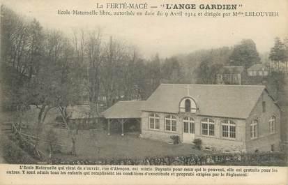 """/ CPA FRANCE 61 """"La Ferté Macé, école maternelle l'Ange Gardien"""""""