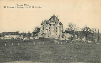 "CPA FRANCE 19 ""Bort, Château de Couzan"""