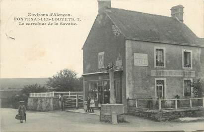 """/ CPA FRANCE 61 """"Fontenay Les Louvets, le carrefour de la Savatte"""""""