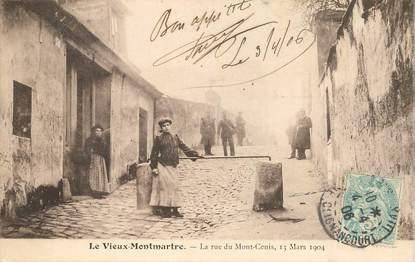 """CPA FRANCE 75018 """"Paris, le vieux Montmartre, la rue du Mont Cenis / Série 1089, N° 24"""