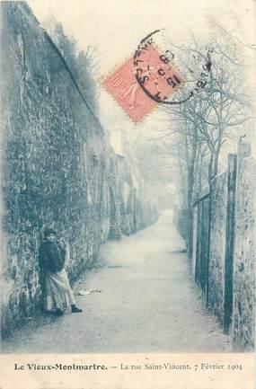 """CPA FRANCE 75018 """"Paris, le vieux Montmartre, la rue Saint Vincent"""" / Série 1089, N° 918"""