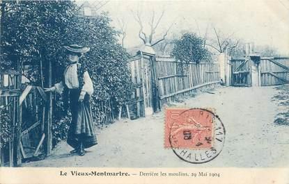 """CPA FRANCE 75018 """"Paris, le vieux Montmartre, derrière les moulins, 1904"""" / Série 1089, N° 14"""