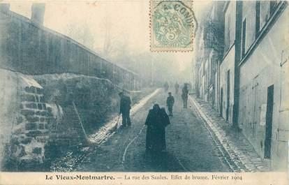 """CPA FRANCE 75018 """"Paris, le vieux Montmartre, la rue des Saules"""" / Série 1089, N° 1"""