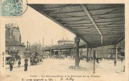 """CPA FRANCE 75019  """"Paris, Le Métro à la Rotonde de la Villette"""""""
