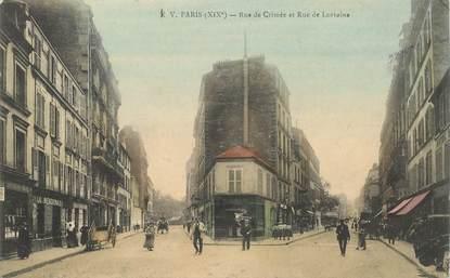 """CPA FRANCE 75019  """"Paris, Rue de Crimée et rue de Lorraine"""""""