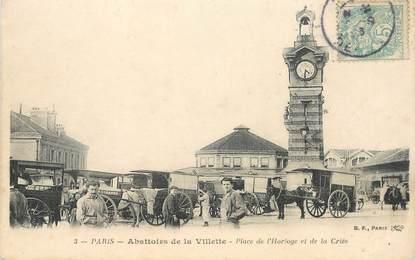 """CPA FRANCE 75019  """"Paris, Place de l'Horloge et de la Criée"""""""