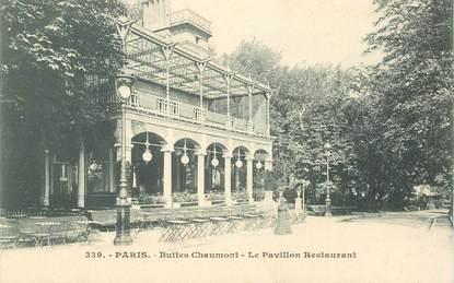 """CPA FRANCE 75019  """"Paris, les Buttes Chaumont, le Pavillon restaurant"""""""