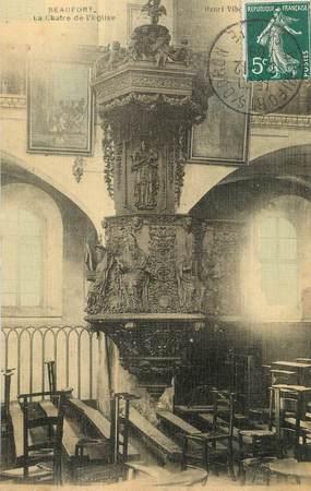 """/ CPA FRANCE 73 """"Beaufort, la chatre de l'église"""""""
