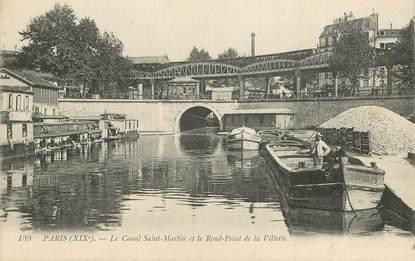 """CPA FRANCE 75019  """"Paris, le canal Saint Martin"""""""