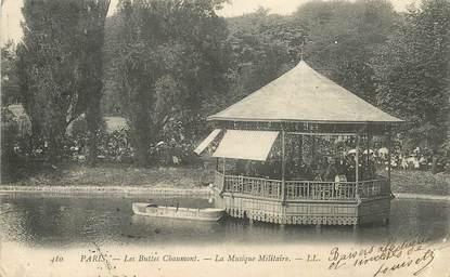 """CPA FRANCE 75019  """"Paris, les Buttes CHaumont, la musique militaire"""""""
