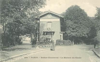 """CPA FRANCE 75019  """"Paris, les Buttes Chaumont, la maison du Garde"""""""