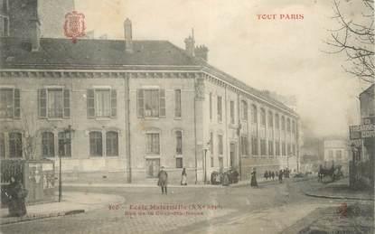 """CPA FRANCE 75020 """"Paris, Ecole maternelle"""" / TOUT PARIS"""