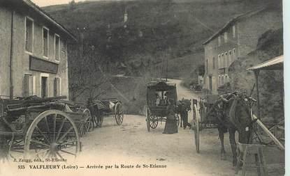 """CPA FRANCE 42 """"Valfleury, arrivée par la route de Saint Etienne"""""""