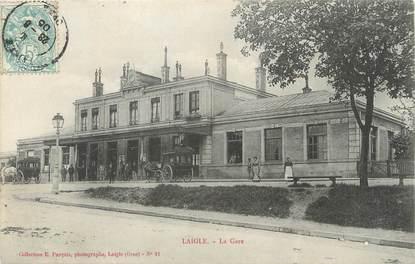 """/ CPA FRANCE 61 """"Laigle, la gare """""""