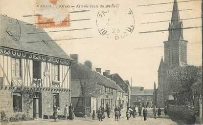 """/ CPA FRANCE 61 """"Mantilly, arrivée route de Teilleul"""""""